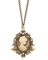Nova Inc. Cameo So Chic Necklace - Lyst