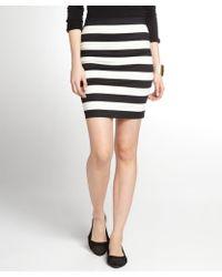 Robert Rodriguez Black And White Striped Stretch Cotton Mini Skirt - Lyst