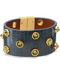 Tory Burch Theophile Crystal Stud Bracelet - Lyst