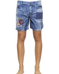 Diesel Denim Printed Nylon Swimming Shorts - Lyst
