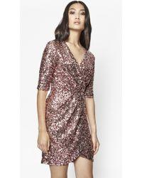 French Connection | Lunar Sparkle Sequin Wrap Dress | Lyst