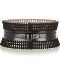 Alaïa Lasercut Leather and Suede Corset Belt - Lyst