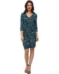 Karen Kane Blue Rose Tiffany Dress - Lyst