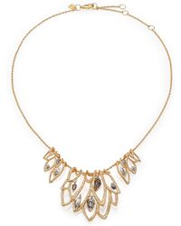 Alexis Bittar Elements Gilded Muse D'Ore Crystal Leaf Bib Necklace - Lyst