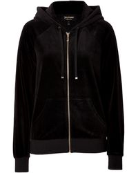 Juicy Couture Velour Relaxed College Crest Hoodie - Lyst