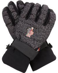 Moncler Grenoble - Animal-Jacquard Ski Gloves - Lyst