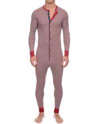 2xist - 2(x)ist Striped Union Suit - Lyst