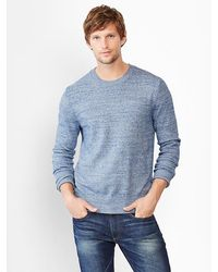 Gap Marled Crewneck Sweater - Lyst