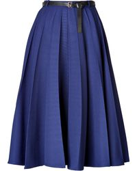 Vionnet Pleated Skirt with Leather Belt - Lyst