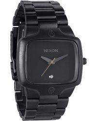 Nixon All Gunmetal Black The Player Watch black - Lyst