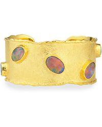 Victor Velyan - Gold Cuff With Australian Black Opals - Lyst