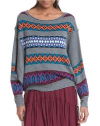 Plenty by Tracy Reese - Slouchy Pullover Sweater - Lyst