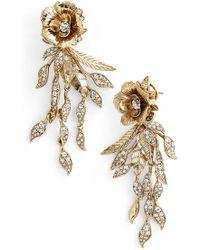Marchesa | 'flower Leaf' Chandelier Earrings | Lyst