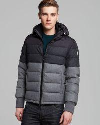 Moncler Harvey Tonal Color Block Down Jacket - Lyst