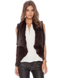 Alice + Olivia Rabbit Fur Vest - Lyst