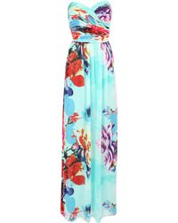 Jane Norman Rose Printed Maxi Dress - Lyst