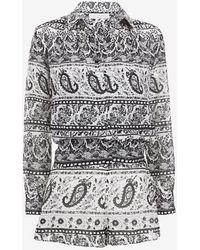 Thakoon Addition - 2 In 1 Combo Paisley Print Romper - Lyst