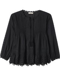 Rebecca Taylor | Long Sleeve Voile Lace Top | Lyst
