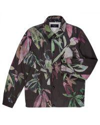 Paul Smith Black Digital Floral Print Coach Jacket floral - Lyst
