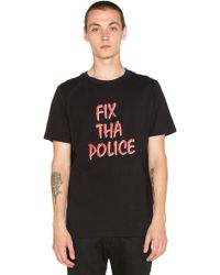 Lazy Oaf | Fix The Police Tee | Lyst