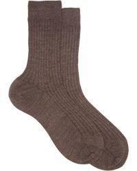 Maria La Rosa Cashmere-silk Midi Socks - Lyst