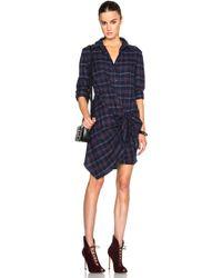Thakoon Addition - Thakoon Flannel Side Tie Dress - Lyst