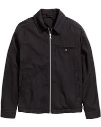 H&M Black Shirt Jacket - Lyst