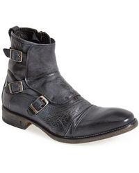 John Varvatos 'Fleetwood' Triple Monk Strap Boot - Lyst