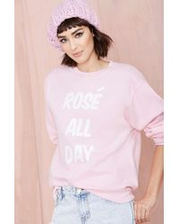 Nasty Gal X Private Party Rosã All Day Sweatshirt - Lyst