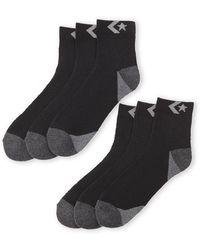 Converse 6-Pack Quarter Socks - Lyst