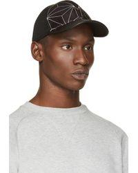 Neil Barrett Black 3d Prism Baseball Cap - Lyst