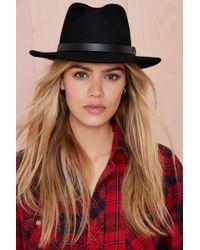 Nasty Gal Brixton Messer Hat black - Lyst