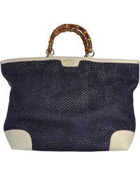 Gucci Blue Handbag - Lyst