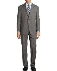 Hickey Freeman Worsted Wool Suit - Lyst