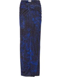 Helmut Lang Printed Stretch-Jersey Maxi Skirt - Lyst
