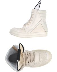 Rick Owens White High-tops  Trainers - Lyst