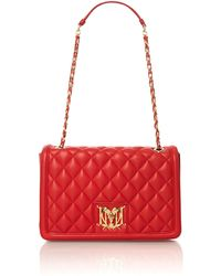 Love Moschino Red Medium Quilt Shoulder Bag - Lyst