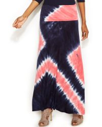 Inc International Concepts Tie-dye Maxi Skirt - Lyst