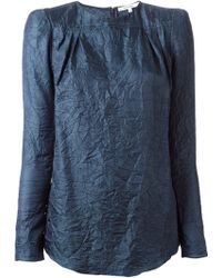 Carven Creased Long Sleeve Top - Lyst