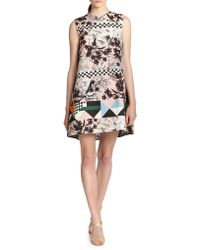 MSGM Printed Shift Dress - Lyst