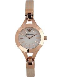 Emporio Armani Brown Wrist Watch - Lyst
