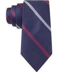 Tommy Hilfiger Pique Stripe Slim Tie - Lyst