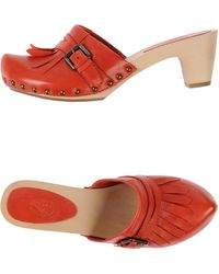 Ash Pink Open-Toe Mules - Lyst