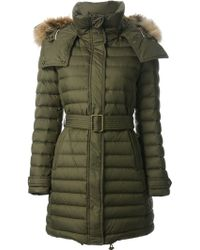 Burberry Hooded Padded Coat - Lyst