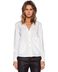 Marc By Marc Jacobs Lyra Washed Poplin Shirt - Lyst