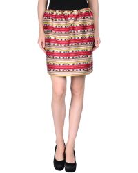 Carven Mini Skirt red - Lyst