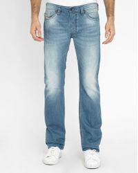 DIESEL | Light Blue Safado Pr Straight Slim-fit Jeans | Lyst