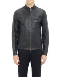 Theory Perforated Leather Jacket - Lyst