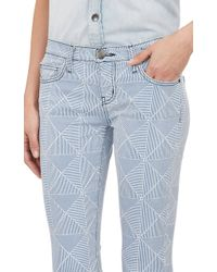 Current/Elliott Stiletto Cropped Skinny Jeans - Lyst