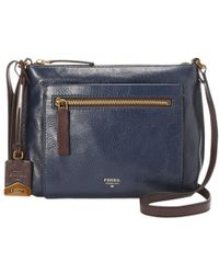 Fossil - Vickery Crossbody Leather Bag - Lyst